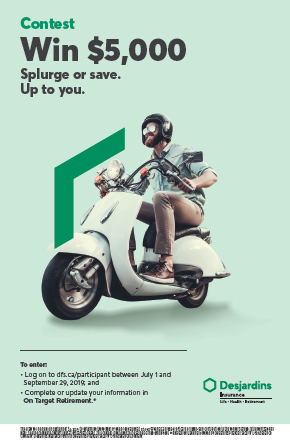 A bearded man wearing a helmet is driving a white scooter.
